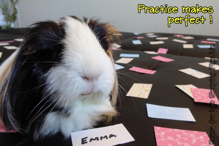 Emma says, Practice makes perfect!