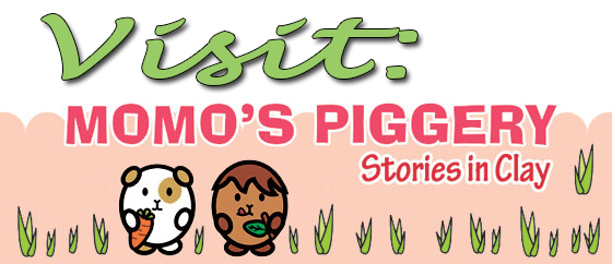 Link to Momo's Piggery-Stories in Clay on Facebook