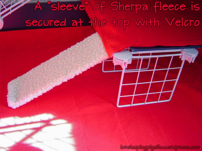 "A ""sleeve"" of Sherpa fleece covers the mini-ramp."