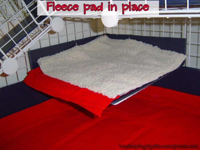 Fleece pad in place