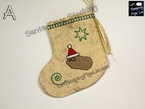 Santa Cavy Stocking Gold Dust, by LetSleepingPigsLie