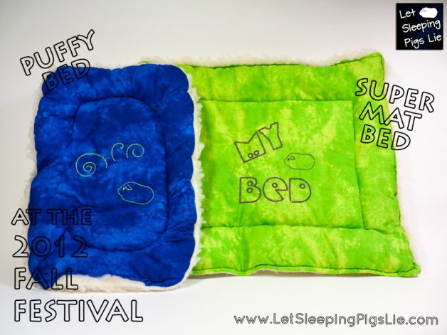 Pair of Beds in Blue and Green, by Let Sleeping Pigs Lie