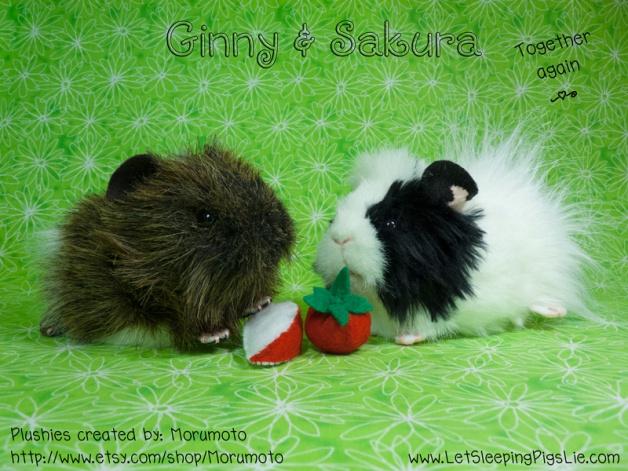 Ginny and Sakura, custom plushies