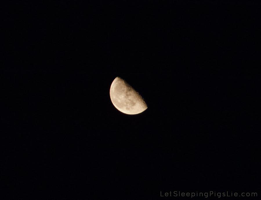 Half Moon on August 26, 2013, by LetSleepingPigsLie