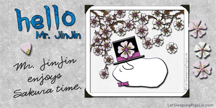 Mr. JinJin Enjoys Sakura Time